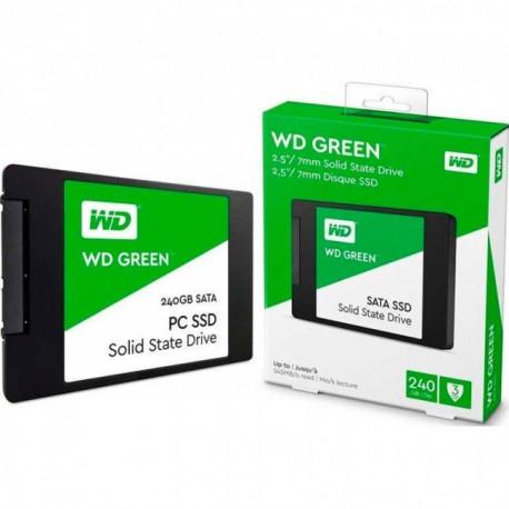 """UNIDAD SSD WD WDS240G2G0A 240GB GREEN 2.5"""" SATA"""