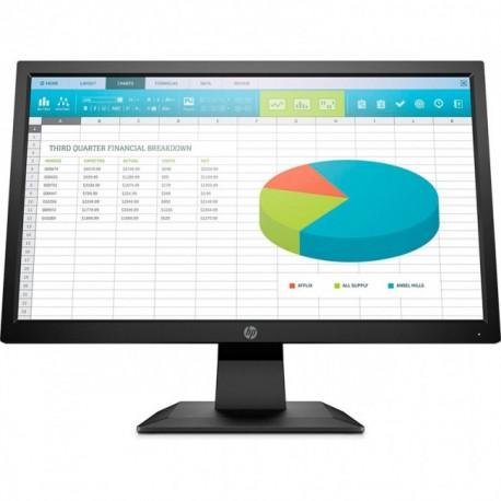 "MONITOR HP P204 LED 19.5"" 1600 X 900 60HZ 5MS VGA/HDMI/DP 5RD65A8ABA"