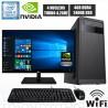 PC INTEL CORE I3-9100 MONITOR FULL HD SSD DDR4 4GB NVIDIA