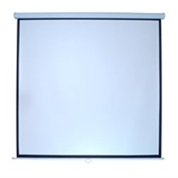 PANTALLA MULTIMEDIA SCREEN MSC-244 BCO 136 DIAGONAL FORMATO 1:1 COLOR BLANCO MATE P/COLGAR MANUAL