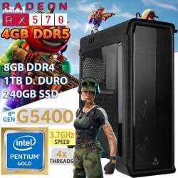 CPU GAMER BARATO INTEL GOLD RX 570 4GB DDR5 8GB DDR4