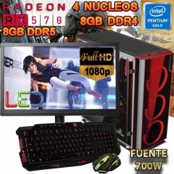 PC GAMER INTEL GOLD RX-570 8GB DDR5 8GB DDR4 MONITOR