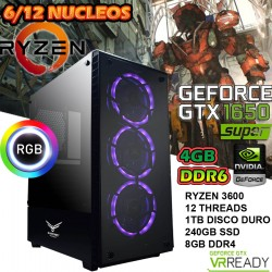PC GAMER AMD RYZEN 5 3600 NVIDIA GTX-1650 4GB