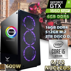 ★PC GAMER CORE I5-10400 12 NÚCLEOS GTX-1660 SUPER 6GB DDR6 16GB DDR4
