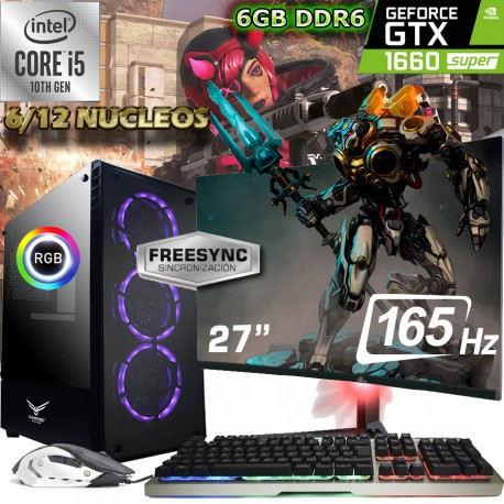 PC GAMER I5-10400 12 NÚCLEOS GTX-1660 SÚPER MONITOR 165HZ