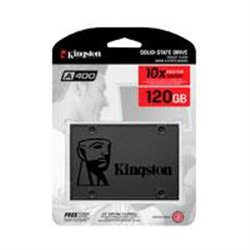 UNIDAD DE ESTADO SOLIDO SSD KINGSTON A400 120GB 2.5 SATA3 7MM LECT.500/ESCR.320MBS