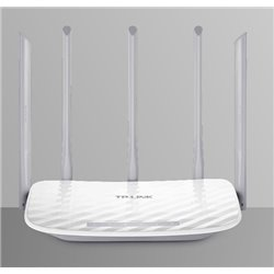 ROUTER WI-FI TP-LINK ARCHER C60 AC1350 DUAL BAND 2.4GHz 450Mbps + 5GHz 867Mbps 3 ANT 2.4GHz y 2 ANT 5GHz EXTERNAS