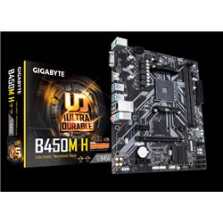 MB AM GIGABYTE B450M H SOCKET AM4 RYZEN32GB MATX HDMI VGA 2*DDR4