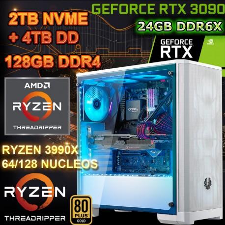 PC RYZEN 3990x 128 NÚCLEOS NVIDIA rtx-3090 24GB DDR6 RAM 128GB DDR4