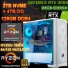 PC THREADRIPPER 3990X 64/128 NÚCLEOS NVIDIA RTX-3090 24GB DDR6X 128GB DDR4 M.2 4TB