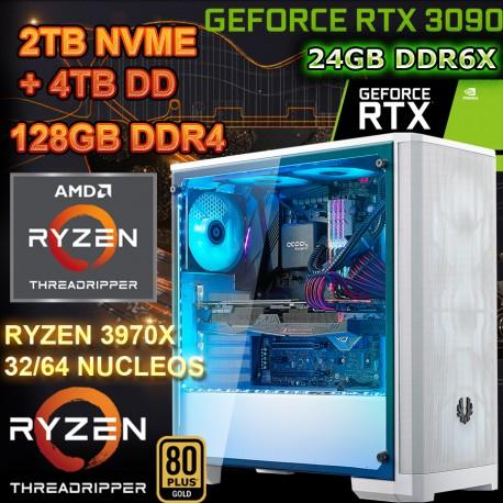 PC RYZEN 3970x 64 NÚCLEOS NVIDIA rtx-3090 24GB DDR6 RAM 128GB mexico