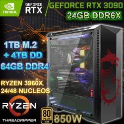 PC THREADRIPPER 48 NÚCLEOS NVIDIA RTX-2060 8GB DDR6 64GB