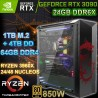 PC THREADRIPPER 3960X 24/48 NÚCLEOS NVIDIA RTX-3090 24GB DDR6X 64GB DDR4 SSD 4TB