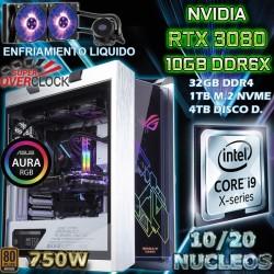 PC GAMER CORE I9-10900K 20 NÚCLEOS NVIDIA RTX-3080 10GB DDR6X