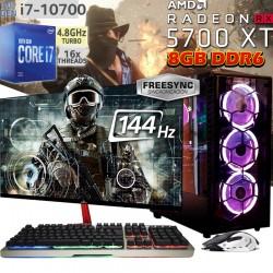 PC GAMER CORE I7-10700 RX-5700XT MONITOR 144HZ