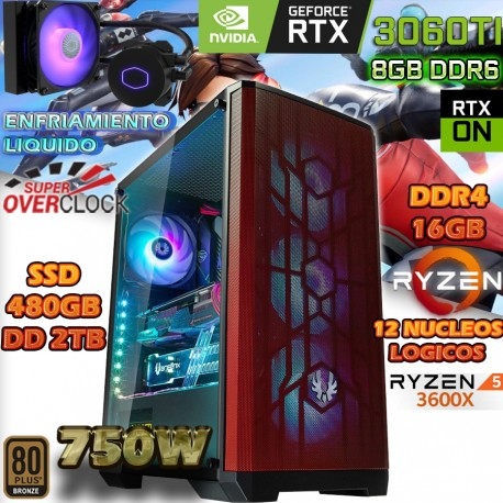 PC GAMER RYZEN 5 3600X NVIDIA RTX 3060 TI MEXICO