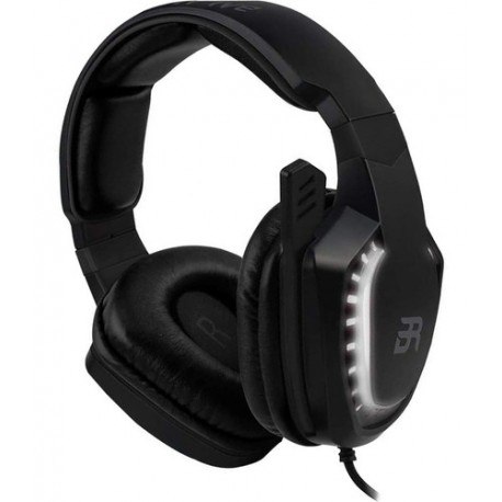 AUDIFONOS ON-EAR MAGMA GAMING BALAM RUSH/ACTECK USB/2 CANALES/LED BLANCO/MICROFONO/COLOR NEGRO/BR-929769