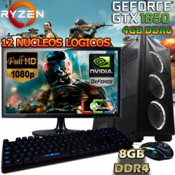 ★PC GAMER RYZEN 5 GTX-1650 DDR6 PANTALLA