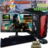 ★PC GAMER RYZEN 3 2200G GTX-1050TI 4GB DDR5 MONITOR FULL HD LED 8GB DDR4 SSD 1TB