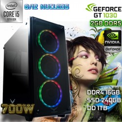PC DISEÑO CORE I5-10400 NVIDIA GT 1030 2GB DDR5 16GB