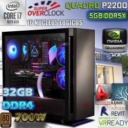 ★PC CORE I7-10700K 16 NÚCLEOS NVIDIA QUADRO P2200 32GB