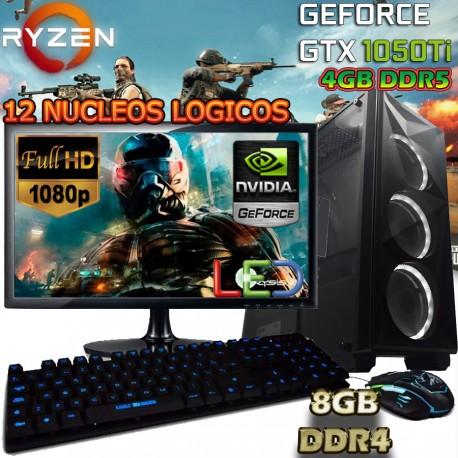 ★PC GAMER RYZEN 5 GTX-1050TI DDR5 PANTALLA