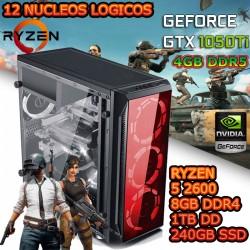 CPU GAMER GAMA MEDIA RYZEN 5 NVIDIA GTX-1050ti 4GB