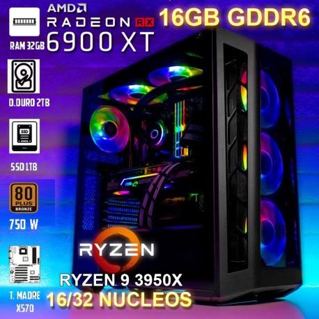 PC RYZEN 9 3950X 32 NÚCLEOS RX-6900XT 16GB DDR6