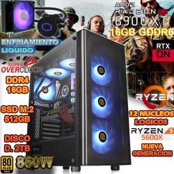 PC GAMER RYZEN 5 5600X NVIDIA RX 6900 XT 16GB GDDR6 MEXICO