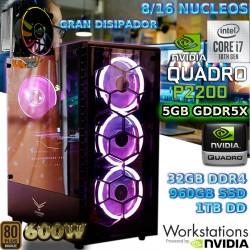 PC CORE I7-10700 NVIDIA QUADRO P2200 5GB DDR5 32GB