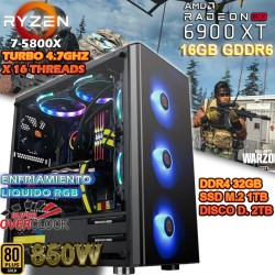 PC RYZEN 7 5800X RX 6900 XT 16GB G-DDR6 32GB DDR4