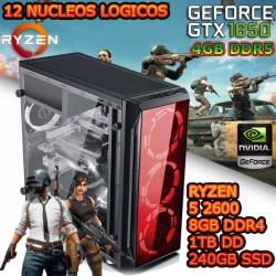 CPU GAMER RYZEN 5 NVIDIA GTX-1650 4GB DDR6