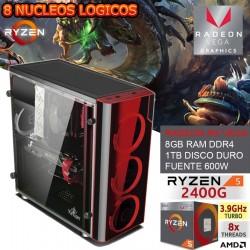 CPU GAMER BARATO AMD RYZEN 5 2400G VIDEO RX VEGA