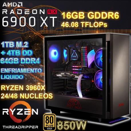 PC THREADRIPPER 48 NÚCLEOS RX 6900XT 16GB DDR6 64GB DDR4