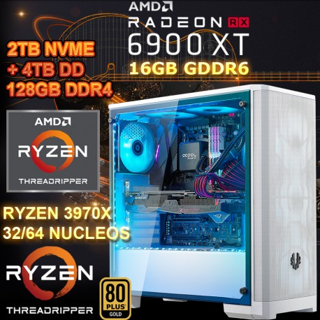 PC RYZEN 3970x 64 NÚCLEOS RX 6900XT 16GB GDDR6 RAM 128GB mexico