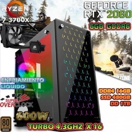 PC GAMER RYZEN 7 3700X NVIDIA RTX-2060 6GB GDDR6 16GB
