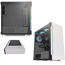 GABINETE THERMALTAKE H200 TG SNOW RGB MEDIA TORRE MINI ITX MICRO ATX ATX CA-1M3-00M6WN-00