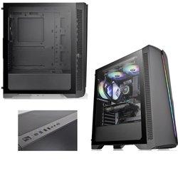 GABINETE THERMALTAKE H350 TG RGB SPCC WIN 1200MM SNTANDAR FAN BLACK CA-1R9-00M1WN-00