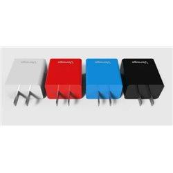CARGADOR PARA PARED VORAGO 2 PUERTOS USB BLANCO BLISTER AU-106-WH