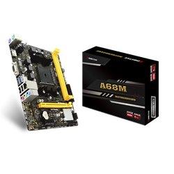 TARJETA MADRE BIOSTAR A68MHE DDR3 HDMI PCIE SATA AMD APU SERIES FM2+