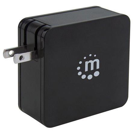 FUENTE DE PODER UNIV.MANHATTAN PO.DELIVERY 60W USB-C+2.4A USB-A 180214