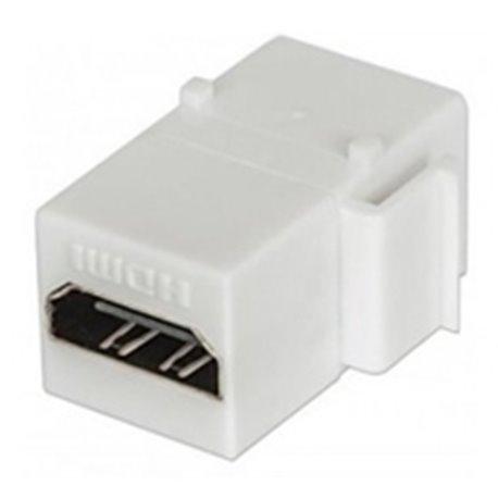 COPLE HDMI TIPO KEYSTONE INTELLINET HDMI HEMBRA A HDMI HEMBRA, BLANCO