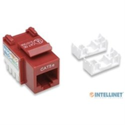 JACK INTELLINET CAT 5E DE IMPACTO ROJO