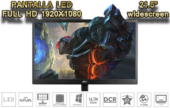 monitor gamer pantalla led full hd