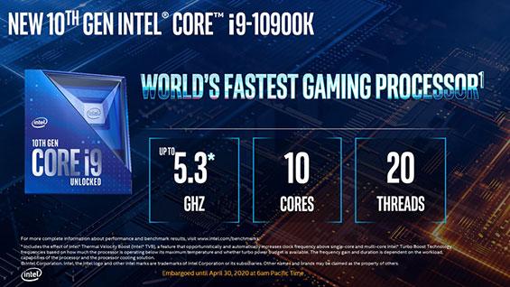 nuevas super computadoras gaming en mexico con procesador intel core i9 10900k 10 20 nucleos mas potentes