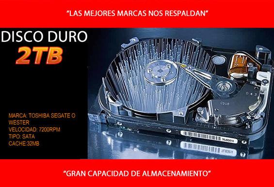 computadoras gamer con 2tb de disco duro de almacenamiento