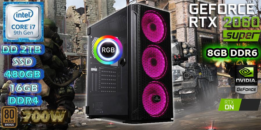 NUEVA PC GAMER MASTER RACE INTEL CORE I7 8 NUCLEOS NVIDIA RTX 2060 SUPER 8GB DDR6 EN MEXICO