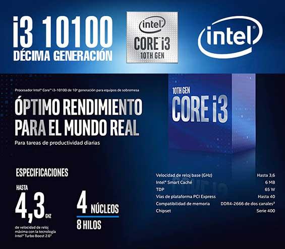 pc gamer potente y barata en mexico con procesador intel core i3 10100 decima eneracion 8 nucleos mas potentes para gaming