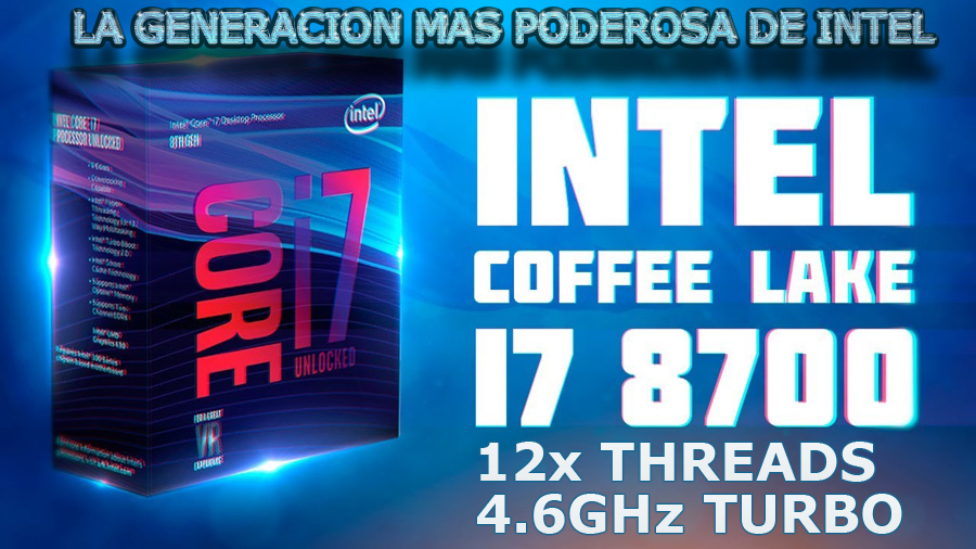 computadora gamer render intel core i7 8700 octava generacion 12 nucleos en mexico