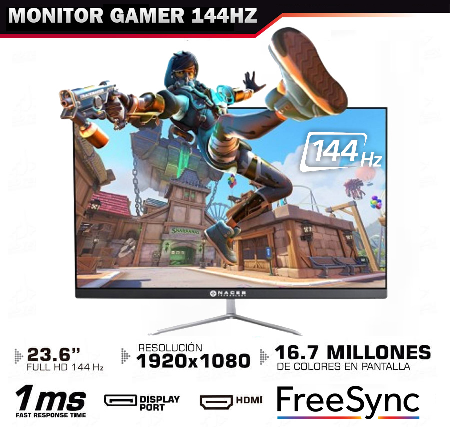 COMPUTADORA GAMING PROFECIONAL CON MONITOR GAMER 144HZ 1MS SUPER RAPIDO